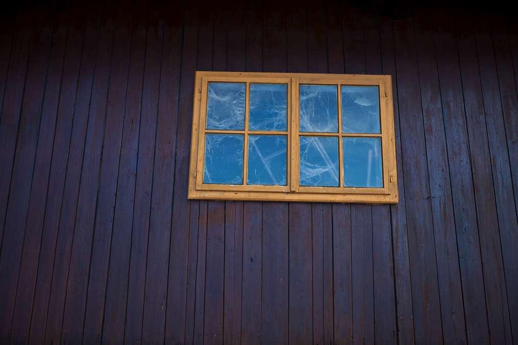 Winter Fensterscheibe